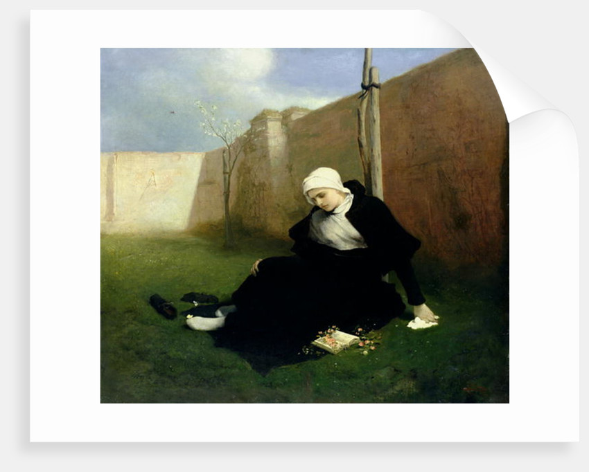 The Nun in the Cloister Garden by Gabriel Max