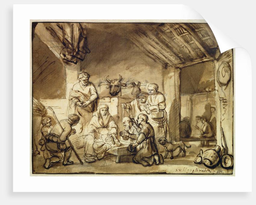 The Adoration of the Shepherds by Samuel van Hoogstraten