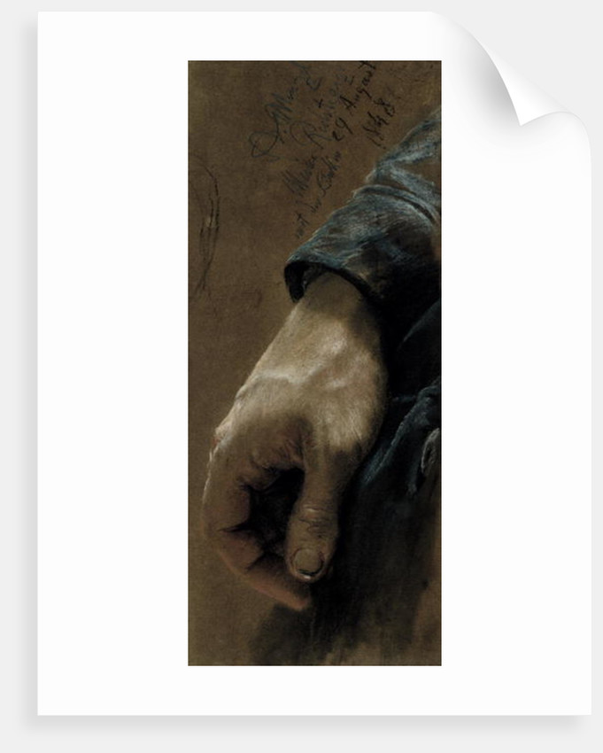 My Right Hand Drawn With my Left Hand by Adolph Friedrich Erdmann von Menzel