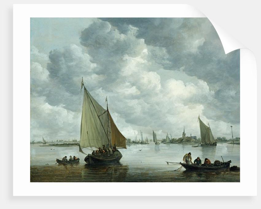 Fishingboat in an Estuary by Jan Josephsz. van Goyen
