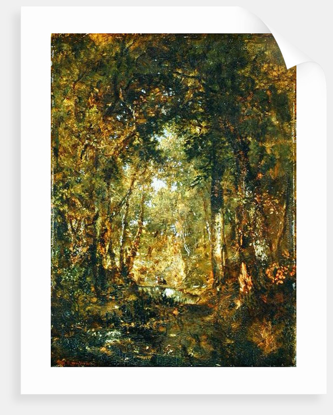 In the Wood at Fontainebleau by Theodore Rousseau