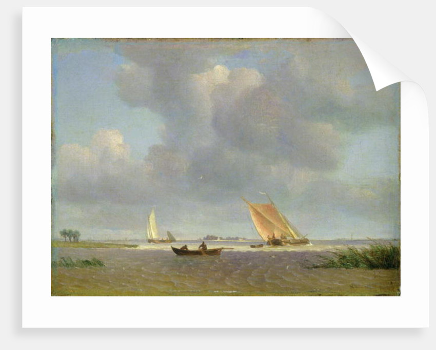 A fresh breeze on the Elbe by Adolf Vollmer