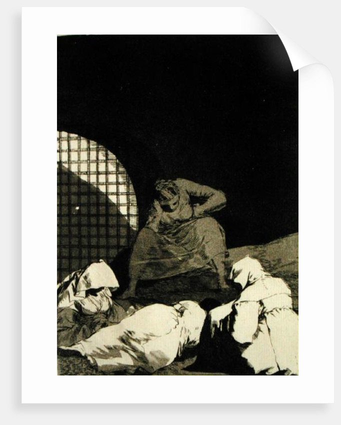 Sleep overcomes them, plater 34 of 'Los caprichos' by Francisco Jose de Goya y Lucientes