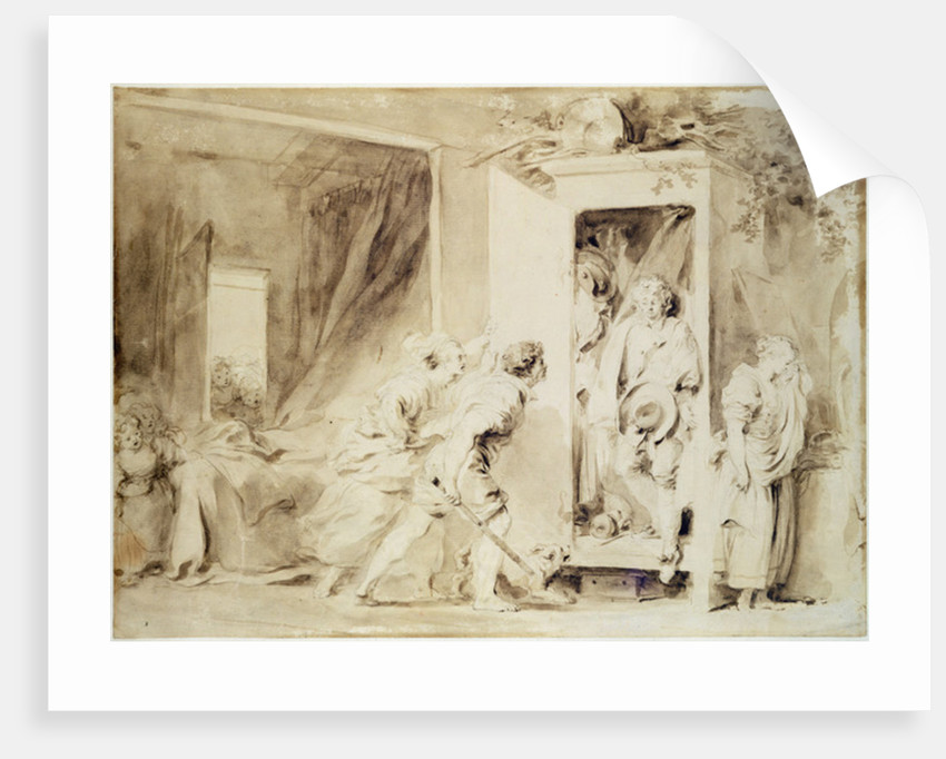 The Surprised Lover by Jean-Honore Fragonard