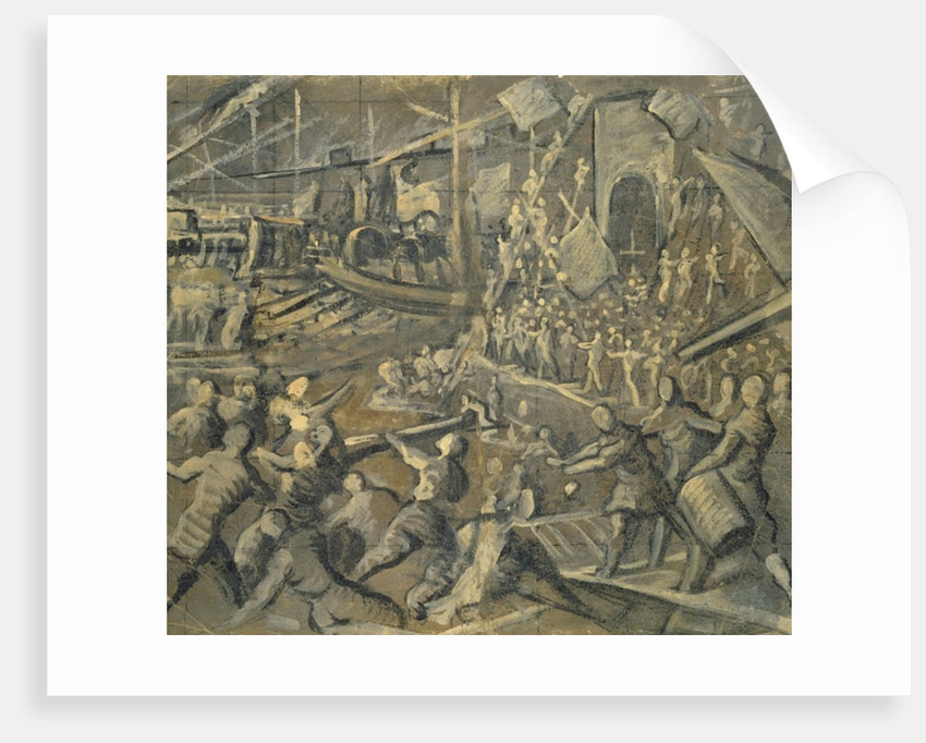 The Conquest of Constantinople by the Venetians in the year 1204 by Domenico Robusti Tintoretto