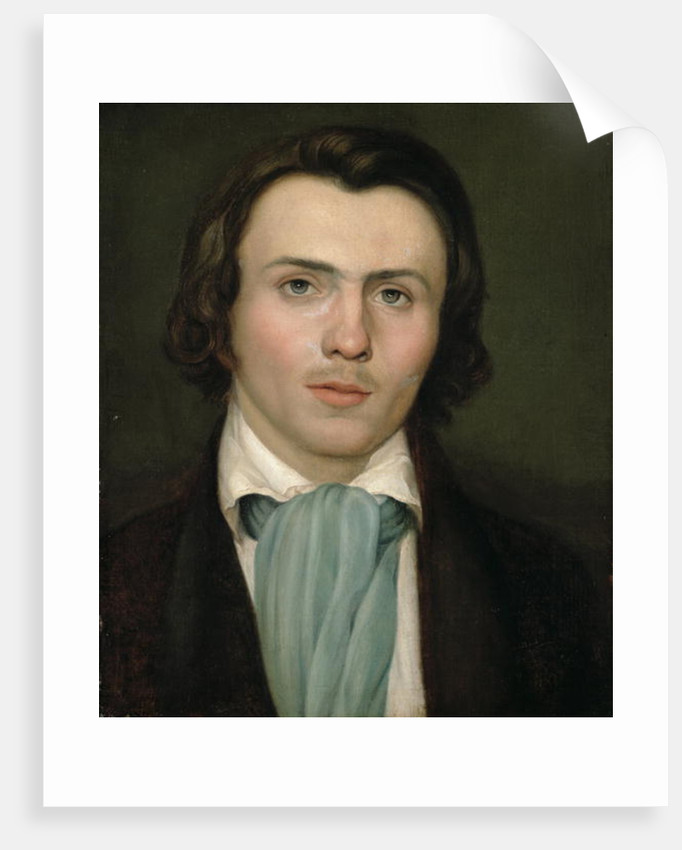 Portrait of a young man by Rudolph Friedrich Wasmann