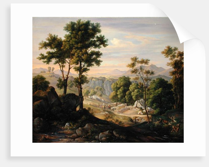 Italian Landscape by Joachim Faber