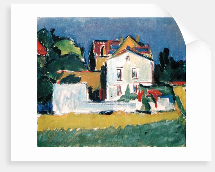 House in a Landscape by Ernst Ludwig Kirchner