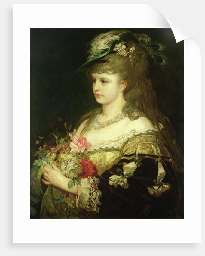 A Young Girl by Hermann Kaulbach