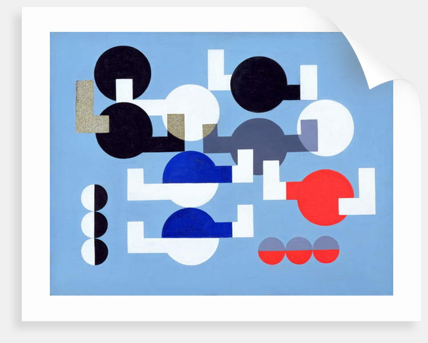 Composition of Circles and Overlapping Angles, 1930 by Sophie Taeuber-Arp