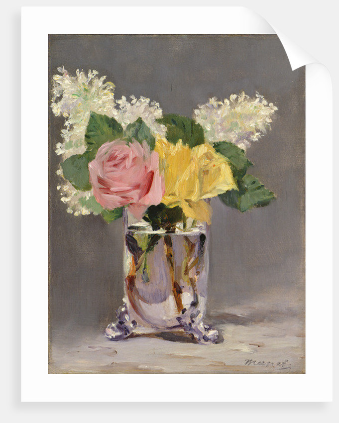 Lilacs and Roses by Edouard Manet