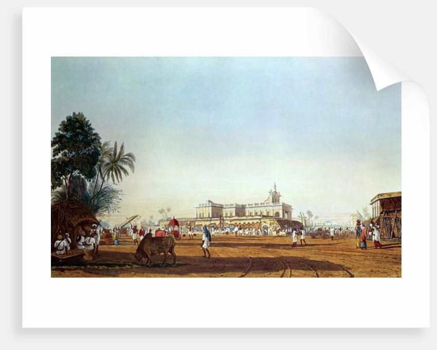 Lall Bazaar and the Portuguese Chapel, Calcutta by James Baillie Fraser