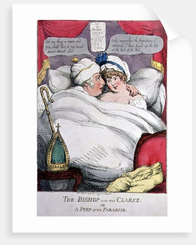 The Bishop and his Clarke or A Peep into Paradise, printed by Tho. Tegg by Anonymous