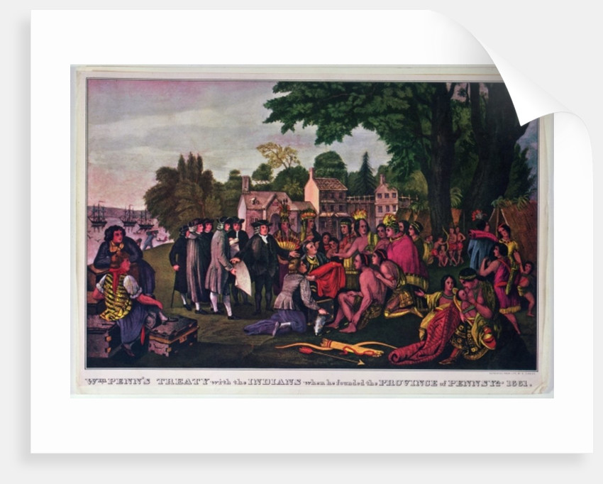 William Penn's Treaty with the Indians when he founded the Province of Pennsylvania by N. Currier