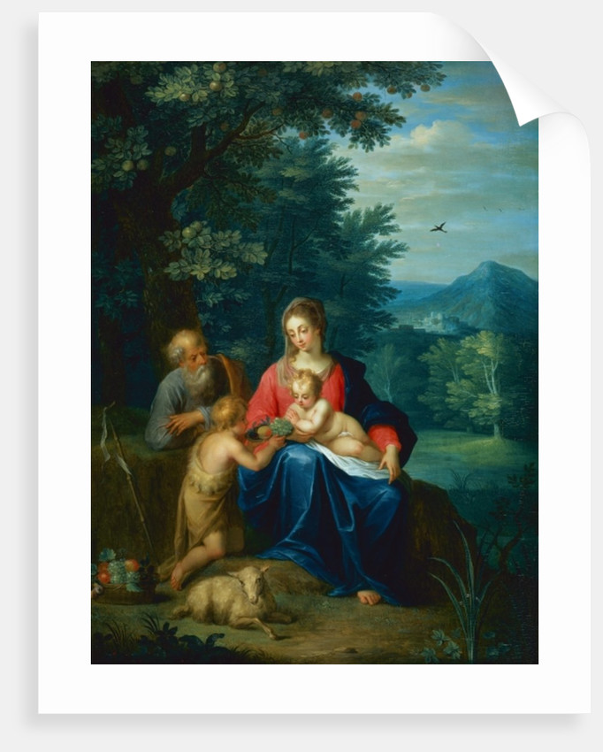 The Holy Family with the Infant St. John the Baptist by Pieter van Avont