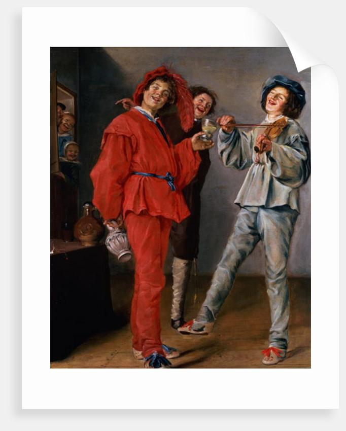 Three Boys Merry-making