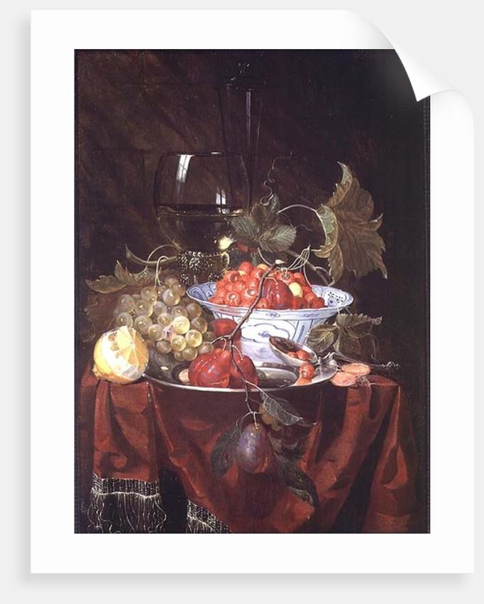 A Still life of Fruit by Nicolaes Van Gelder