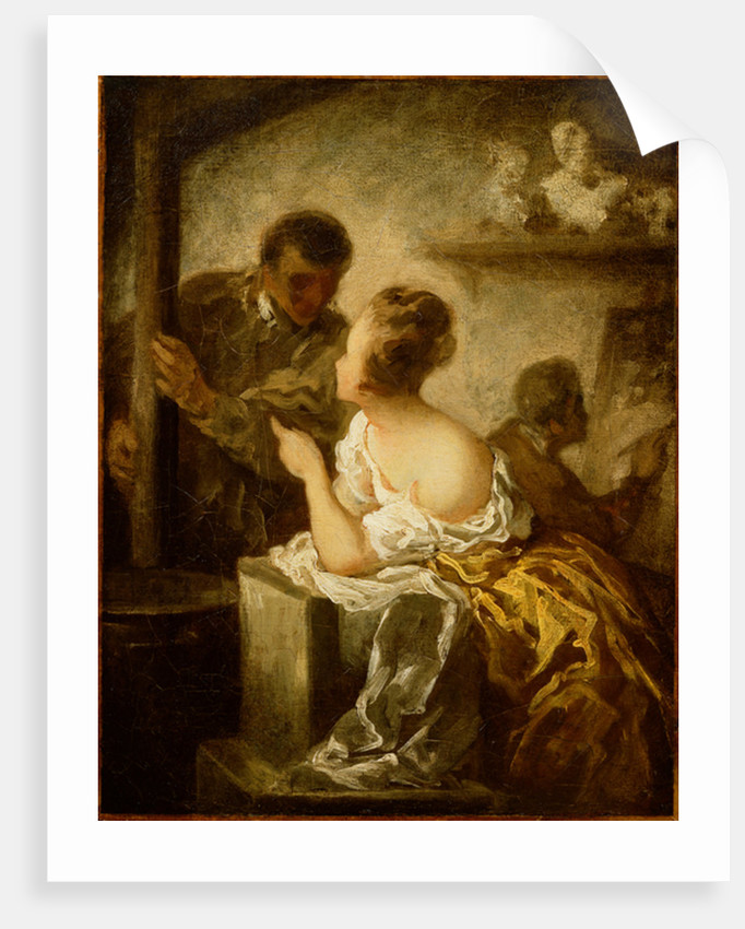 The Studio by Honore Daumier