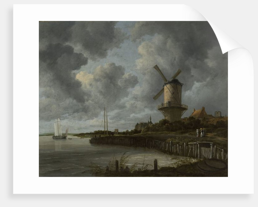 The Windmill at Wijk Duurstede by Jacob Isaaksz. or Isaacksz. van Ruisdael