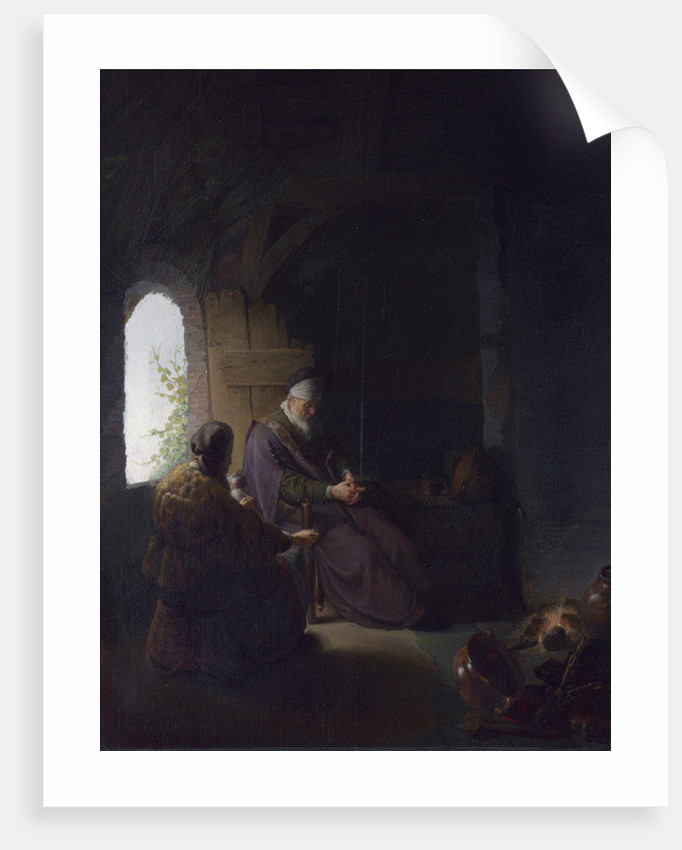 Anna and the Blind Tobit by Rembrandt Harmensz. van Rijn