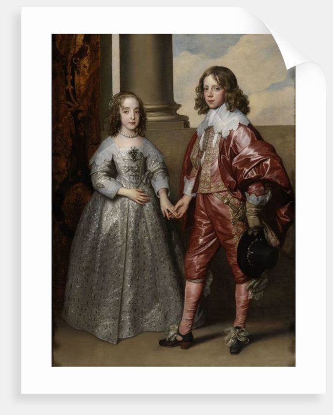 William II, Prince of Orange, and his Bride, Mary Stuart by Sir Anthony van Dyck