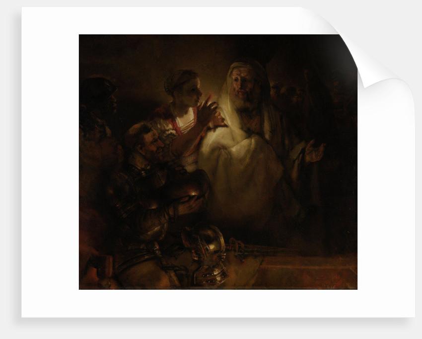 The Denial of St. Peter by Rembrandt Harmensz. van Rijn
