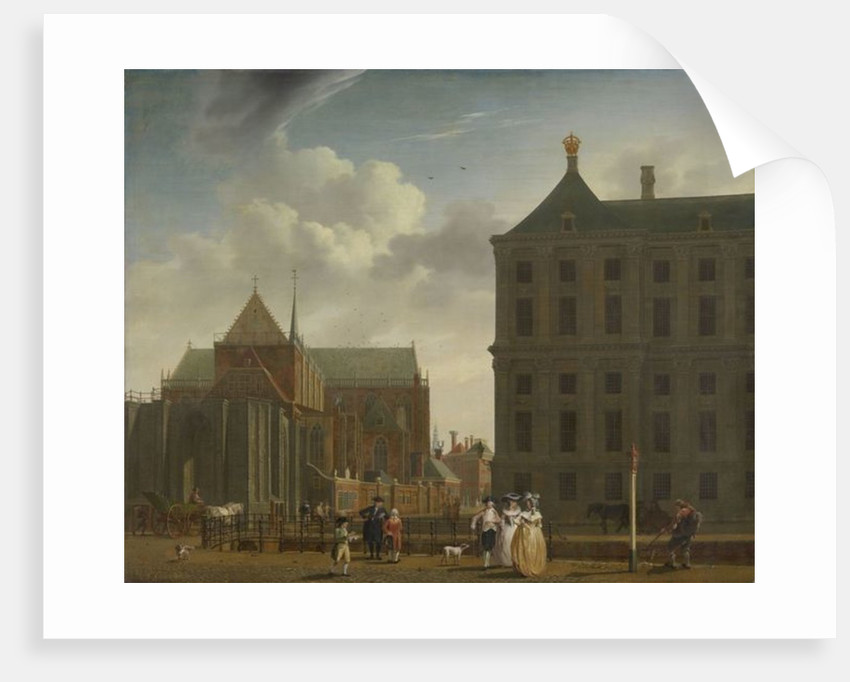 The Nieuwe Kerk and the Town Hall on the Dam in Amsterdam by Isaak Ouwater