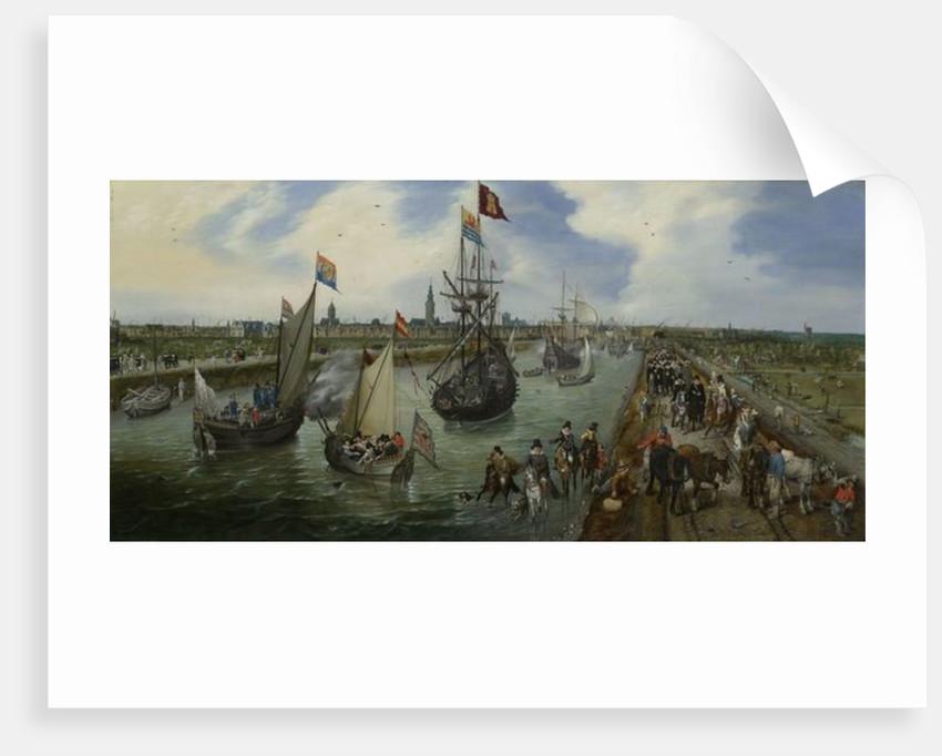 The Departure of a Dignitary from Middelburg by Adriaen Pietersz. van de Venne