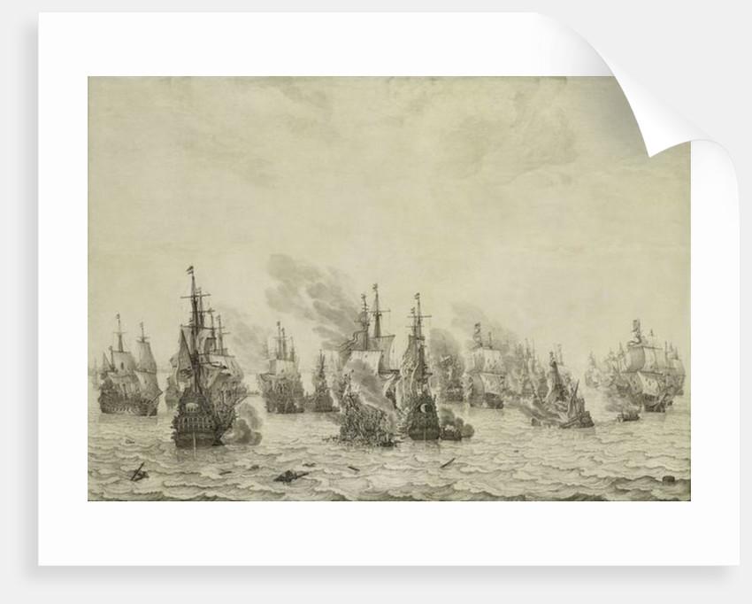 The Battle of Livorno or Leghorn by Willem van de