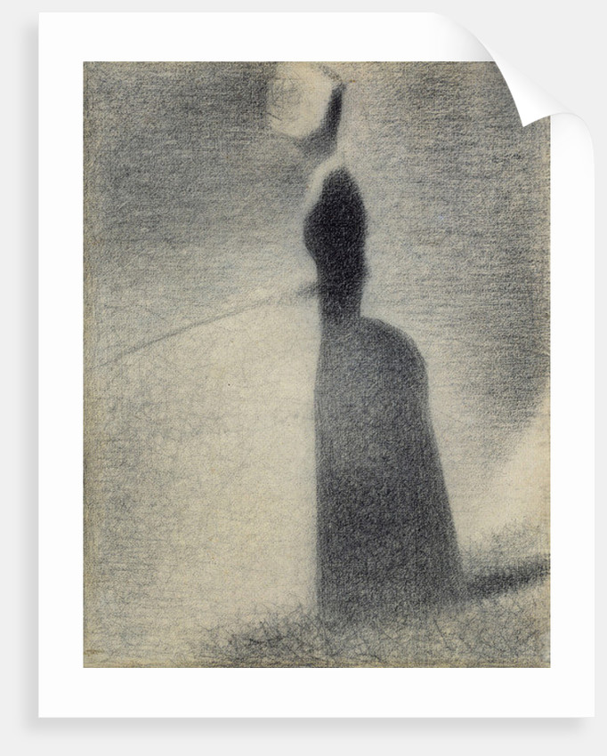 A Woman Fishing by Georges Pierre Seurat