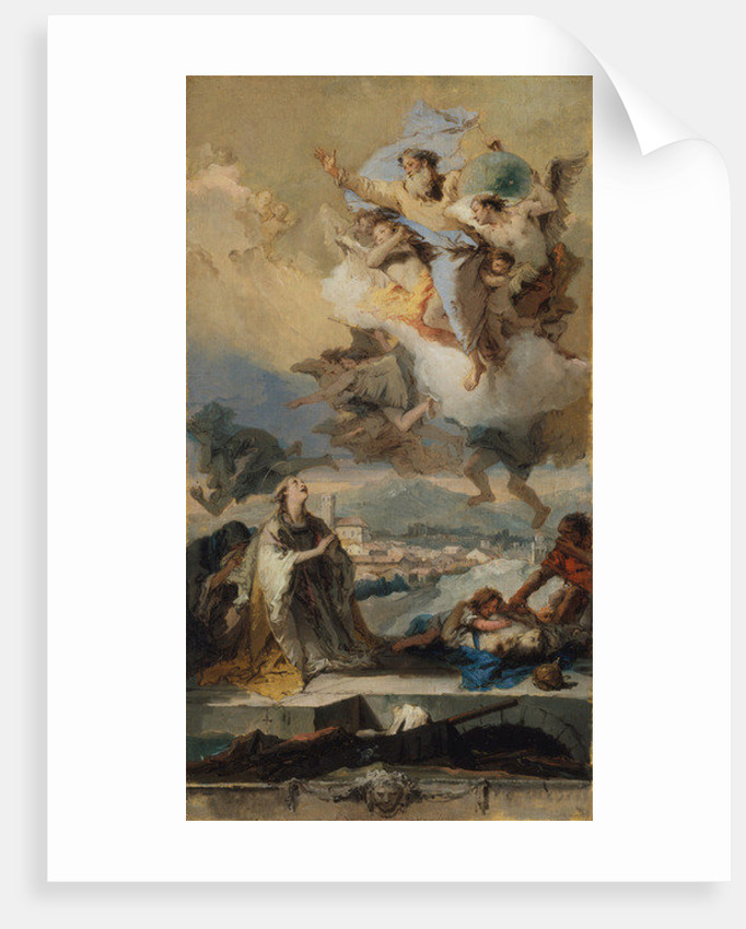 Saint Thecla Praying for the Plague-Stricken, 1758-59 by Giovanni Battista Tiepolo