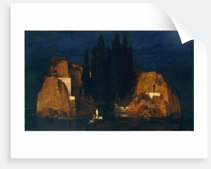 Isle of the Dead, second version by Arnold Bocklin