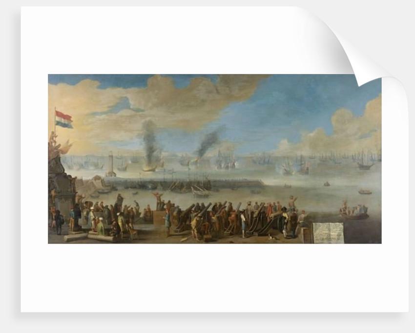 Battle of Livorno by Dutch School