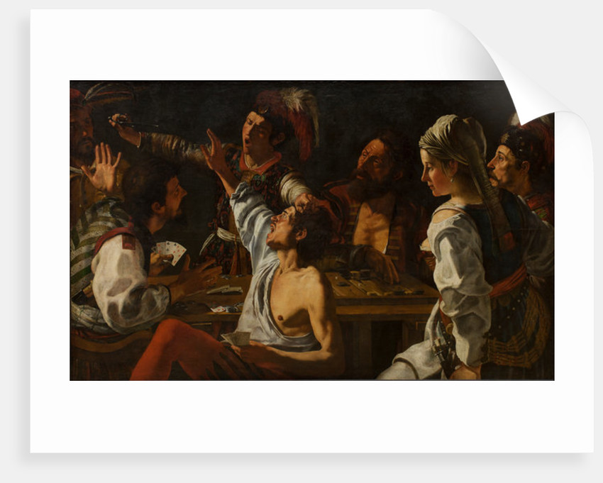 Card and Backgammon Players. Fight over Cards by Theodor Rombouts
