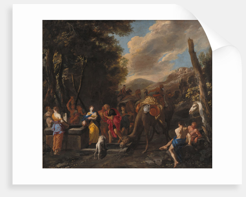 Rebecca and Eliezer at the Well by Domenico Gargiulo