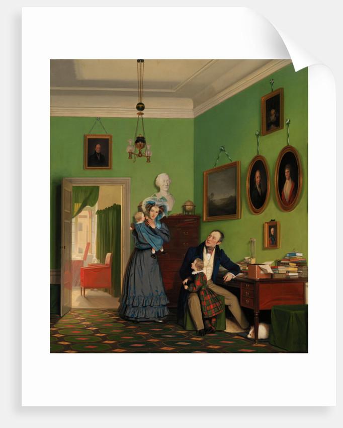 The Waagepetersen Family by Wilhelm Ferdinand Bendz