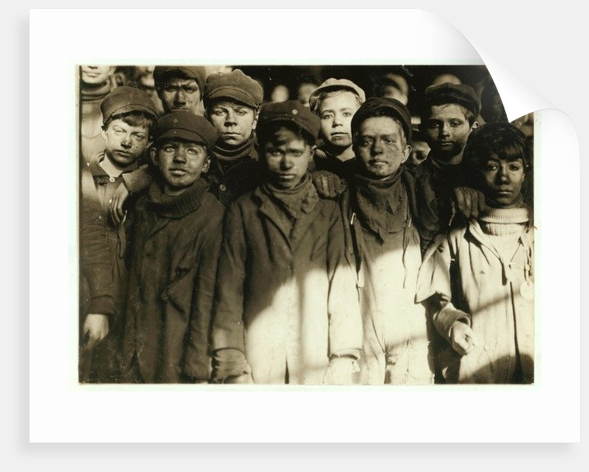 Breaker boys, who sort coal by hand by Lewis Wickes Hine