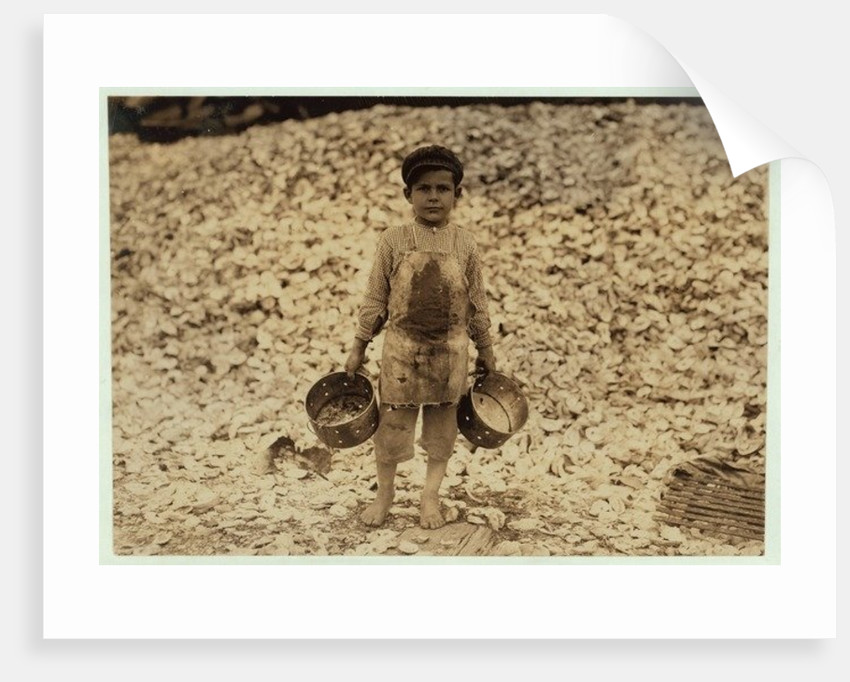 5 year old migrant shrimp-picker Manuel by Lewis Wickes Hine