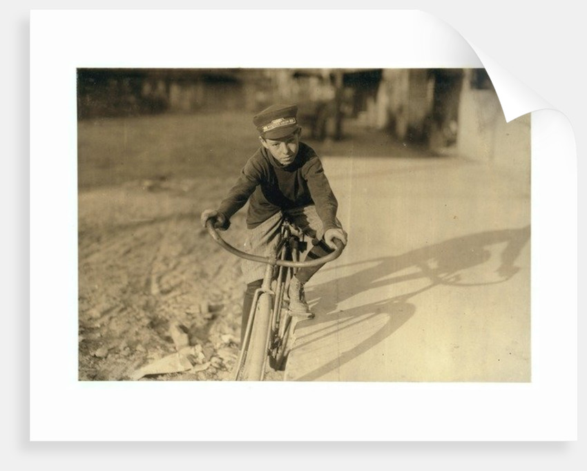 Curtin Hines aged 14, Western Union messenger for 6 months, Houston, Texas by Lewis Wickes Hine