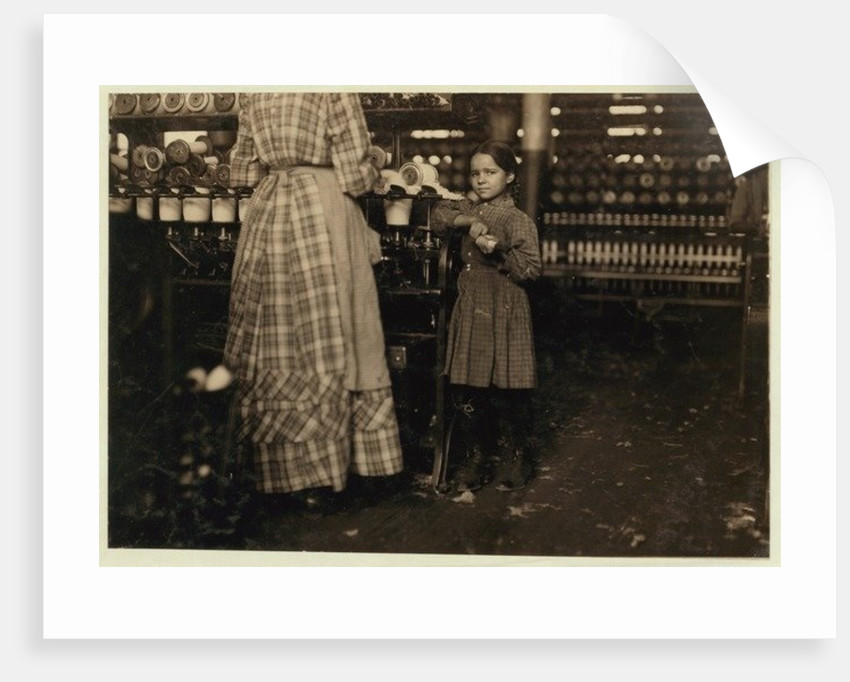 Fannie, 48 inches high, aged 7 by Lewis Wickes Hine