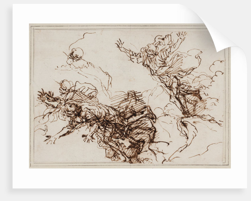 Studies for the Death of Empedocles by Salvator Rosa
