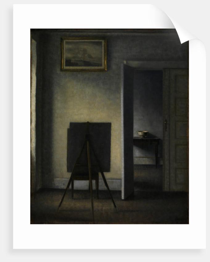 The Artist's Easel by Vilhelm Hammershoi