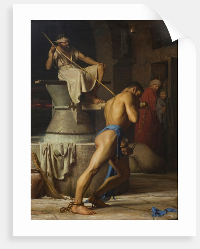 Samson and the Philistines by Carl Bloch