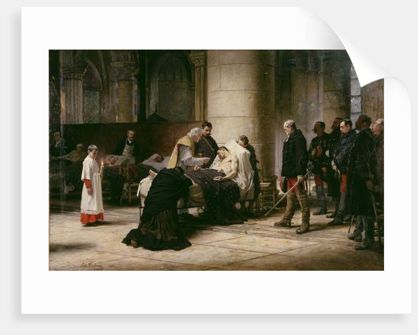 Death of a Hero, 1888 by Nils Forsberg the Elder