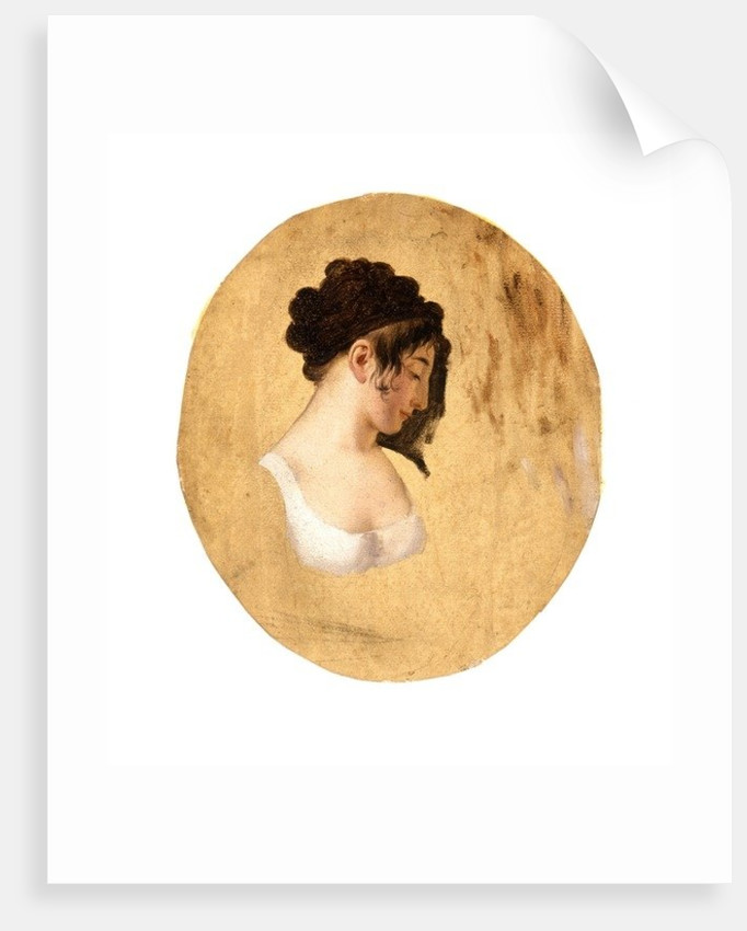 Profile of a Young Woman's Head by Louis Leopold Boilly