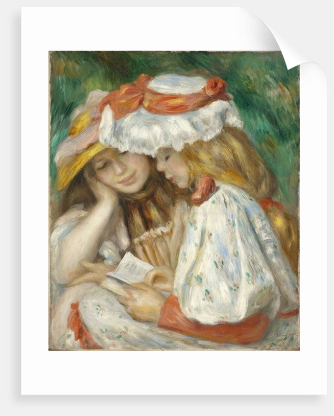 Two Girls Reading by Pierre Auguste Renoir