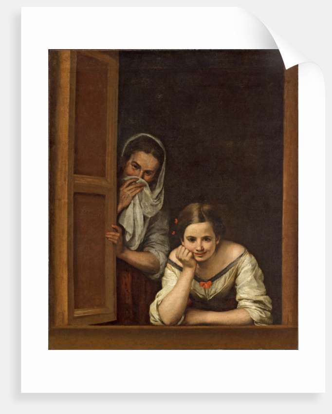 Women from Galicia at the Window by Bartolome Esteban Murillo