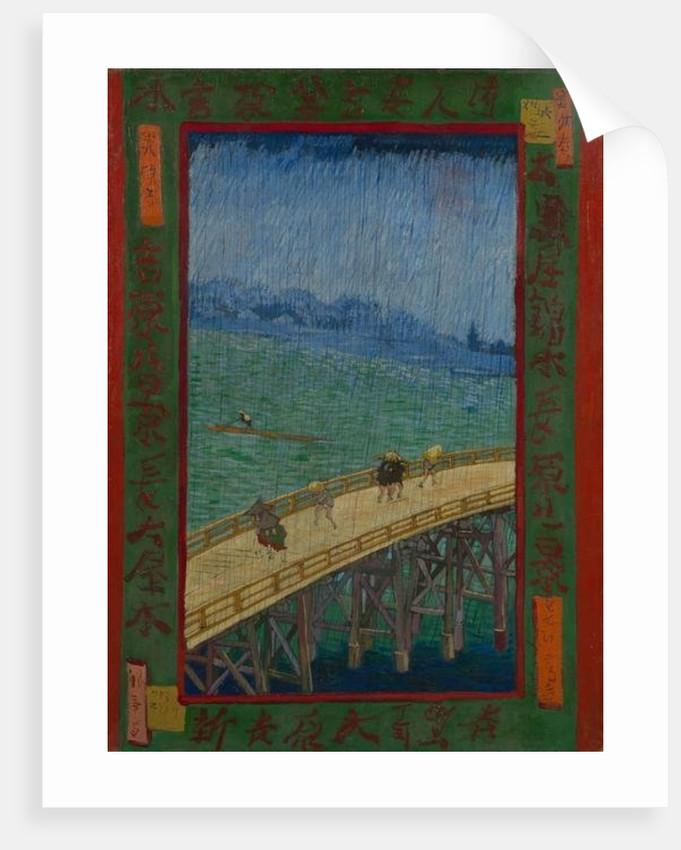 Japonaiserie: The Bridge in the Rain, Paris by Vincent van Gogh