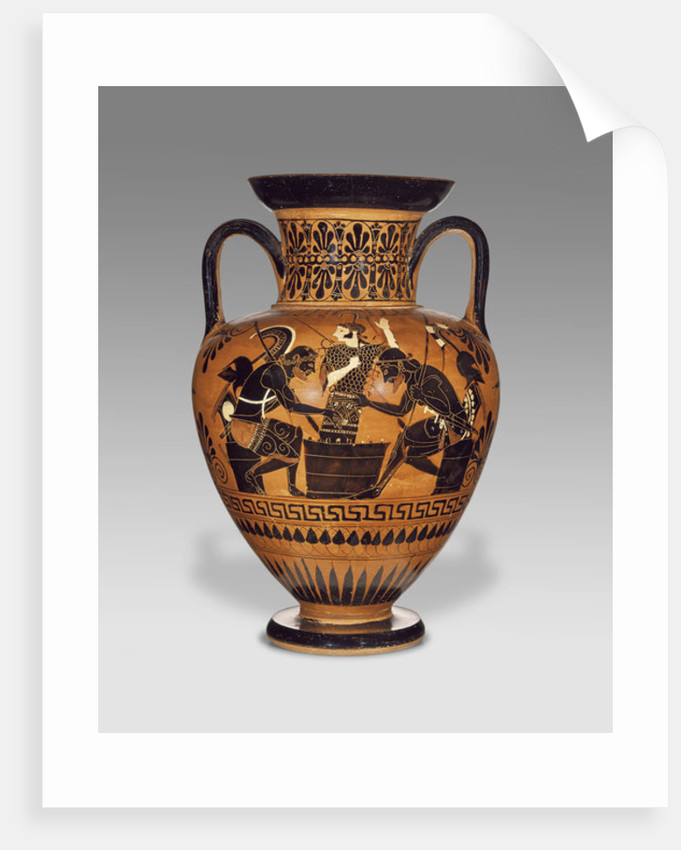 Athenian Attic black-figure neck amphora with Ajax and Achilles by Greek