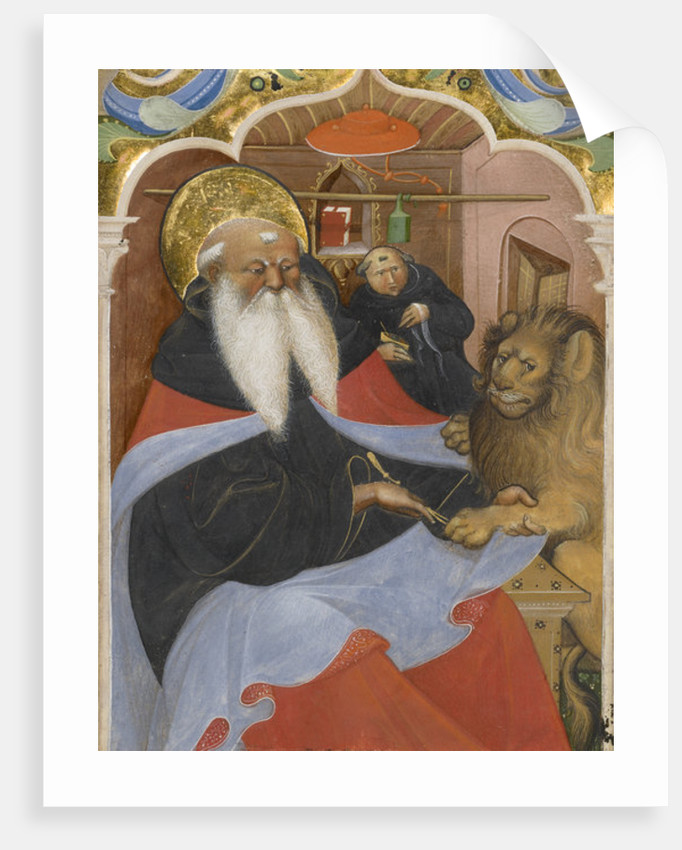 Saint Jerome extracting a thorn from a lion's paw by The Master of the Murano Gradual